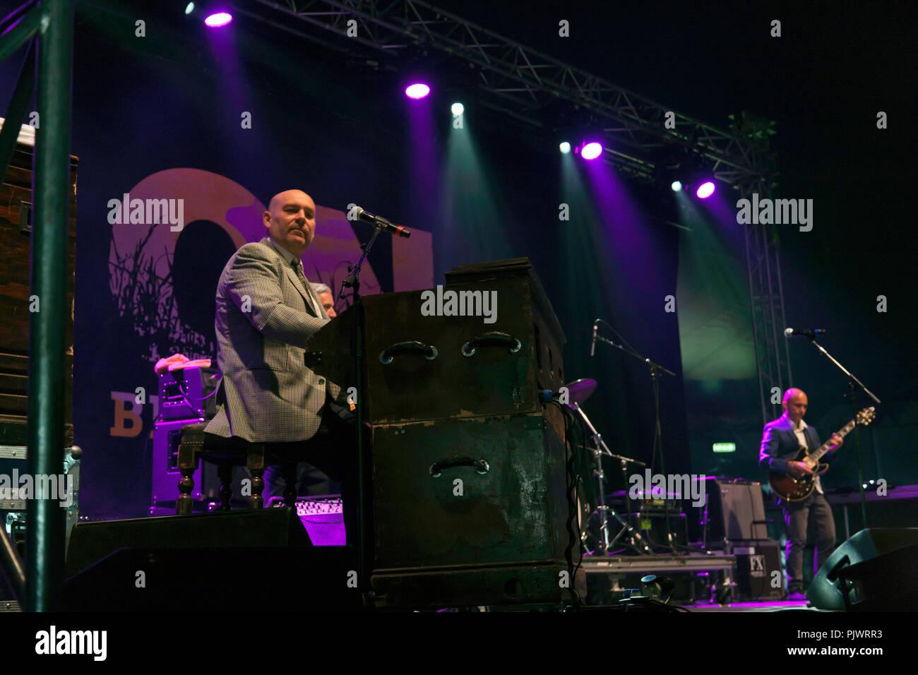 James Taylor Quartet on stage 2 of the OnBlackheath Music Festival, Lewisham, London - Stock Image