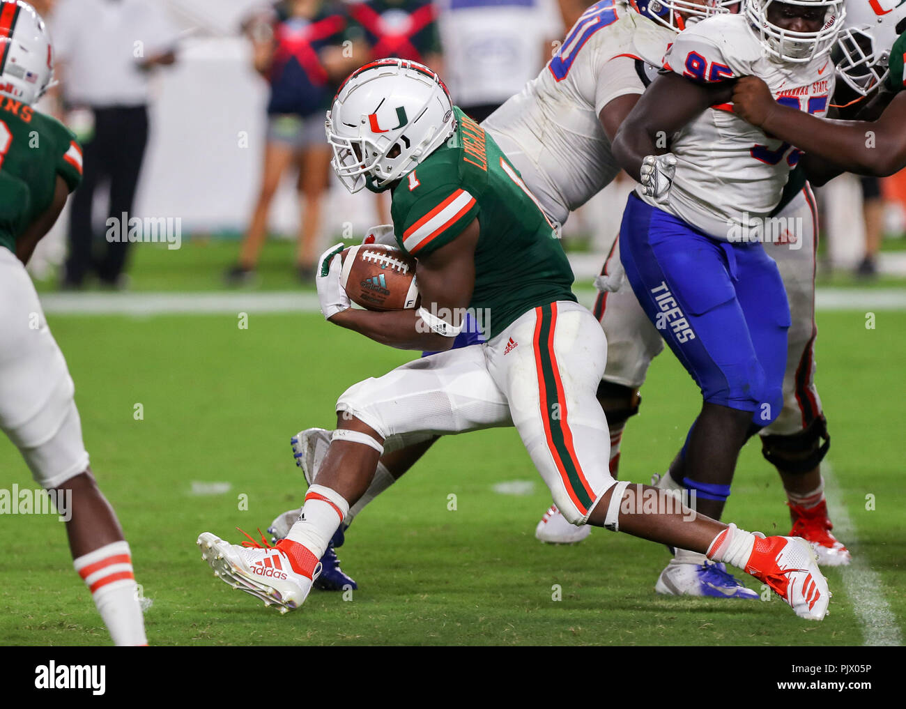 Miami Gardens Florida Usa 08th Sep 2018 Miami Hurricanes