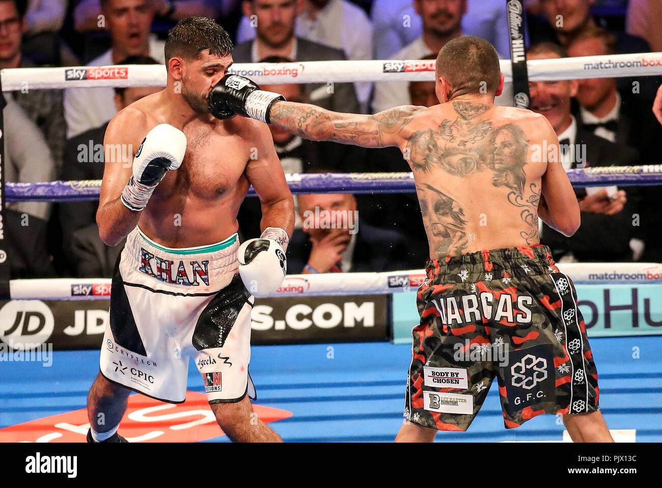 Arena Birmingham, Birmingham, UK. 8th Sep, 2018. Matchroom Boxing, Amir Khan versus Samuel Vargas; Amir Khan (Bolton) on his way to beating Samuel Vargas (Toronto, Canada) Credit: Action Plus Sports/Alamy Live News - Stock Image