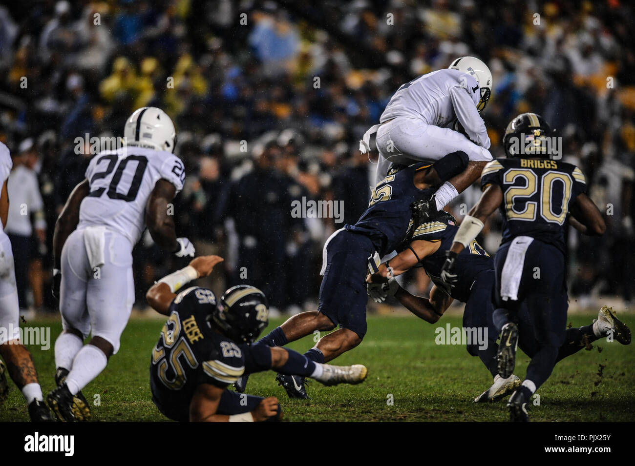 29a7ff87d September 8th, 2018: Nittany Lions #1 KJ Hamler during the Pitt Panthers vs  Penn State game at Heinz Field in Pittsburgh, PA. Jason Pohuski/CSM