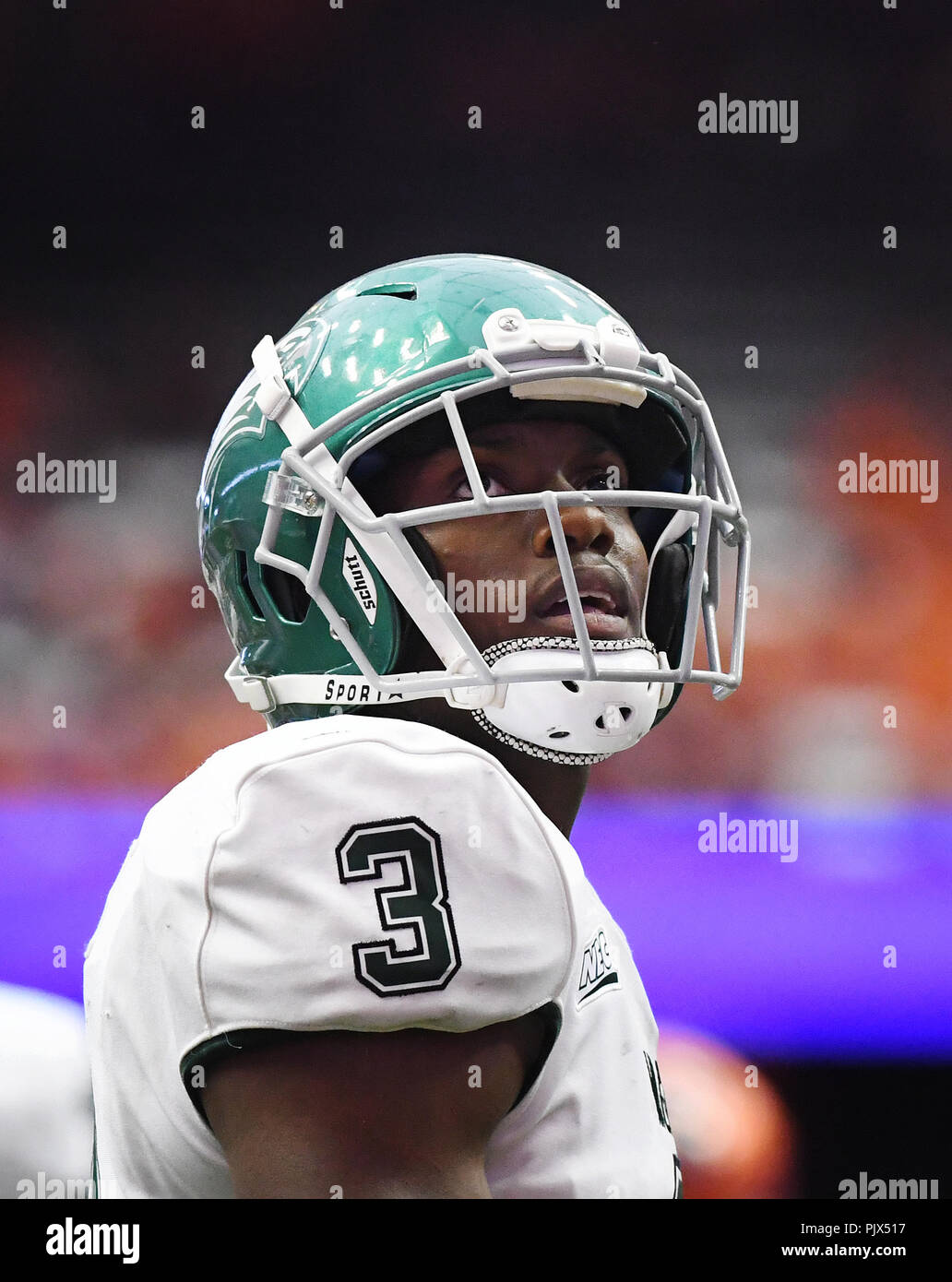 Syracuse, NY, USA. 8th Sep, 2018. Syracuse defeated Wagner 62-10 at the Carrier Dome in Syracuse, NY. Photo by Alan Schwartz/Cal Sport Media/Alamy Live News - Stock Image