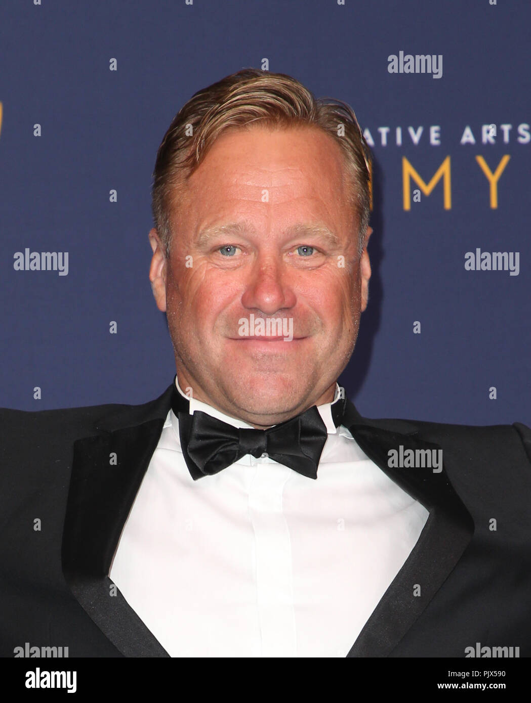 Los Angeles, Ca, USA. 8th Sep, 2018. Rowley Irlam, at the 2018 Creative Arts Emmy Awards-Press Room at the Microsoft Theater L.A. LIVE in Los Angeles, California on September 8, 2018. Credit: Faye Sadou/Media Punch/Alamy Live News - Stock Image