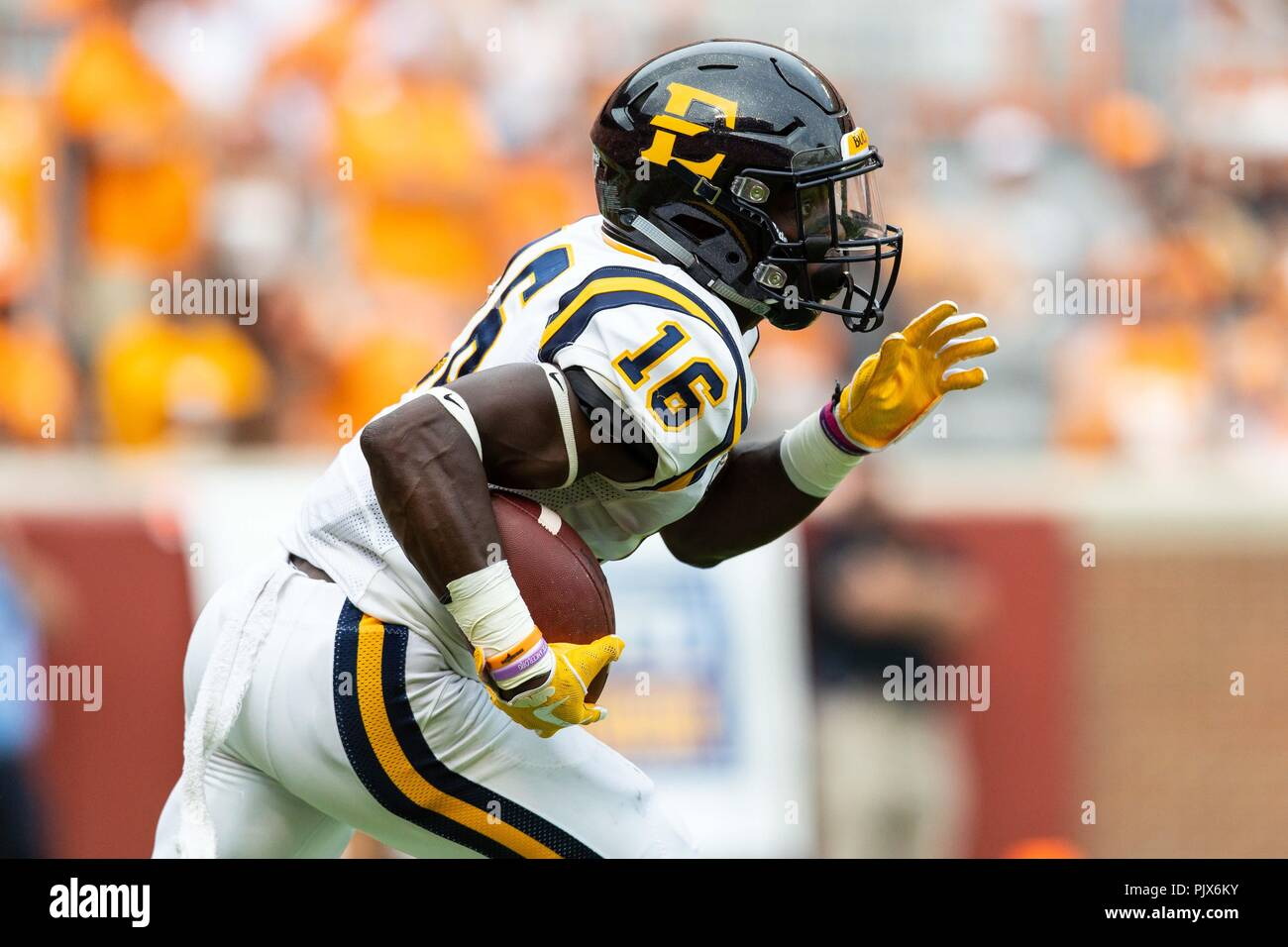more photos 88f65 fe550 Knoxville, USA. 8 September 2018: Tyree Robinson #16 of East ...