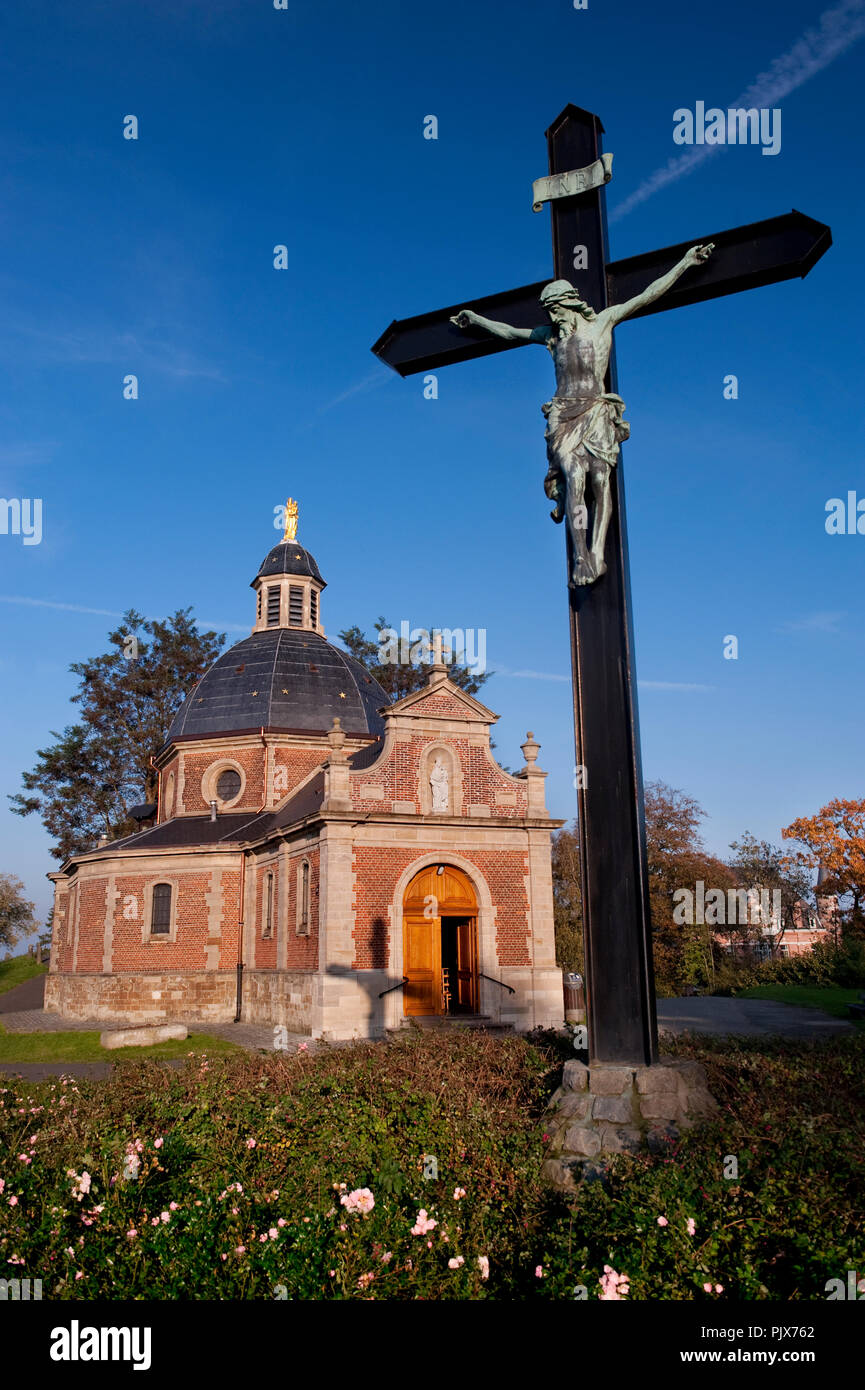 The Chapell of Our Lady of Oudenberg, on top of the Muur climb in Geraardsbergen (Belgium, 22/10/2011) - Stock Image