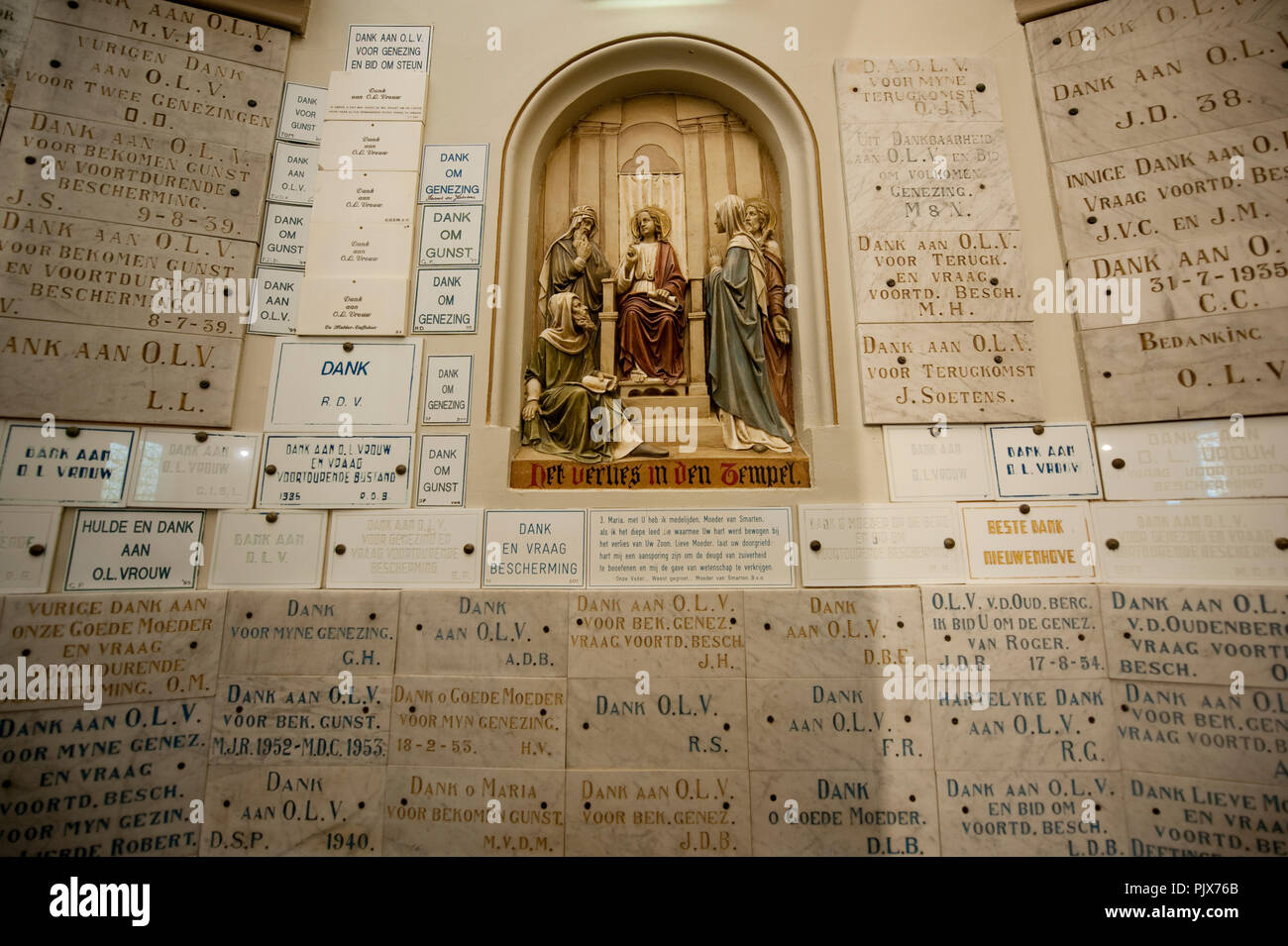 Inside the Chapell of Our Lady of Oudenberg in Geraardsbergen (Belgium, 01/04/2012) - Stock Image