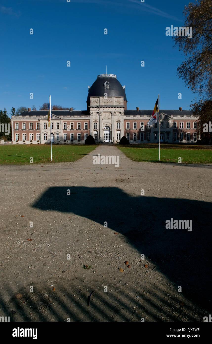 The Hélécine Provincial Park and its 18th Century castle (Belgium, 08/11/2008) Stock Photo