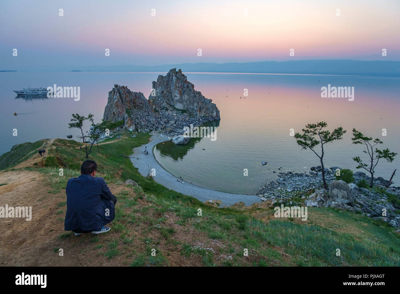 Olkhon Island, Baikal lake, Russia - Stock Image