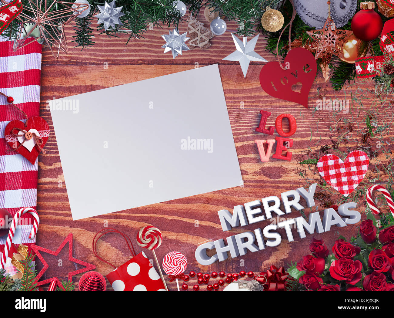 merry christmas card background decoration happy new year
