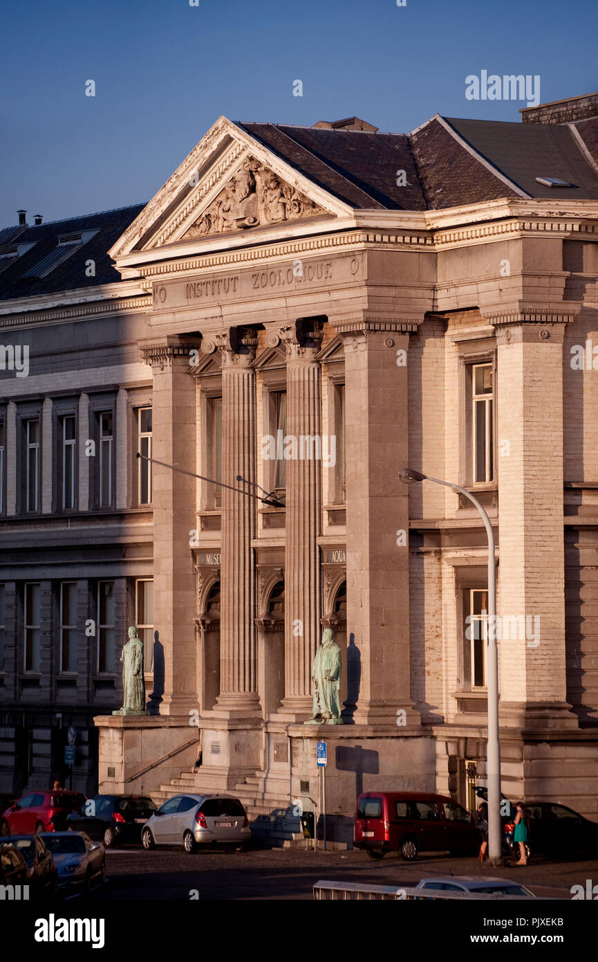 The 19th century Zoologie Institute along the Edouard Van Beneden quay in Liège (Belgium, 30/09/2011) - Stock Image