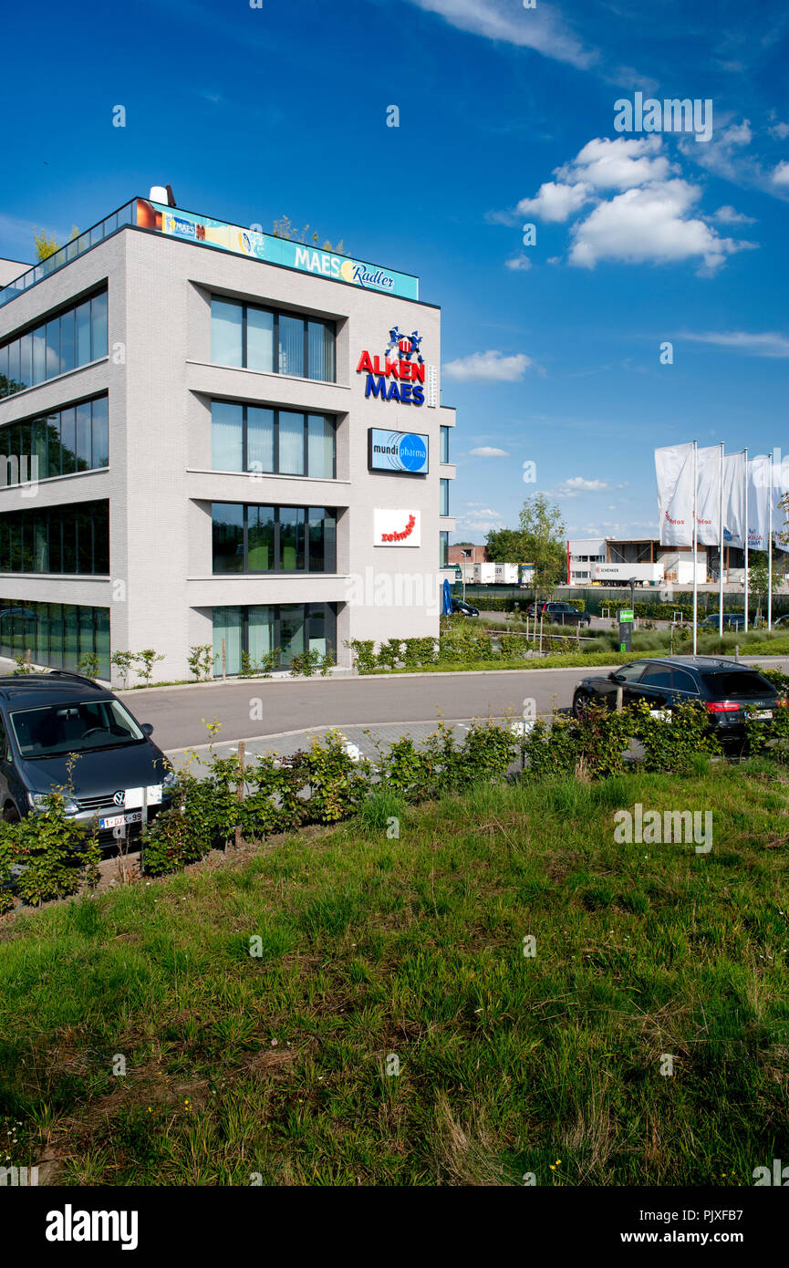 The headquarters of the brewery concern Alken-Maes in Mechelen (Belgium, 05/08/2014) - Stock Image