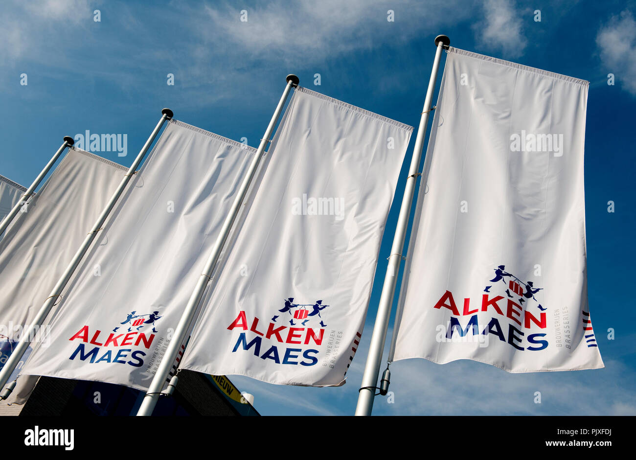 The headquarters of the brewery concern Alken-Maes in Mechelen (Belgium, 05/08/2014) - Stock Image