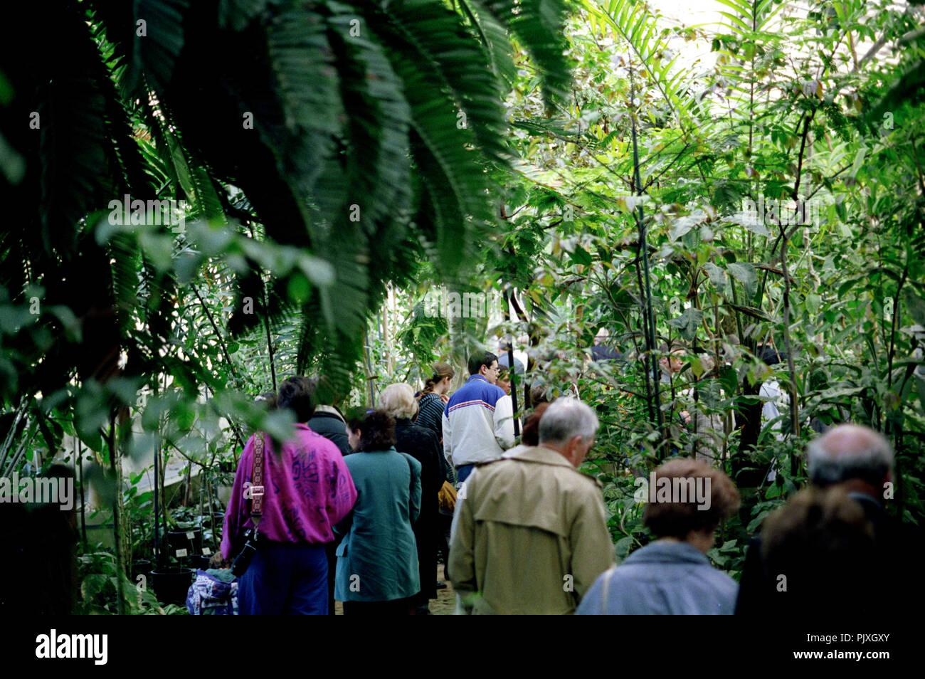 The National Botanic Garden of Belgium in Meise (Belgium, 05/1992) - Stock Image