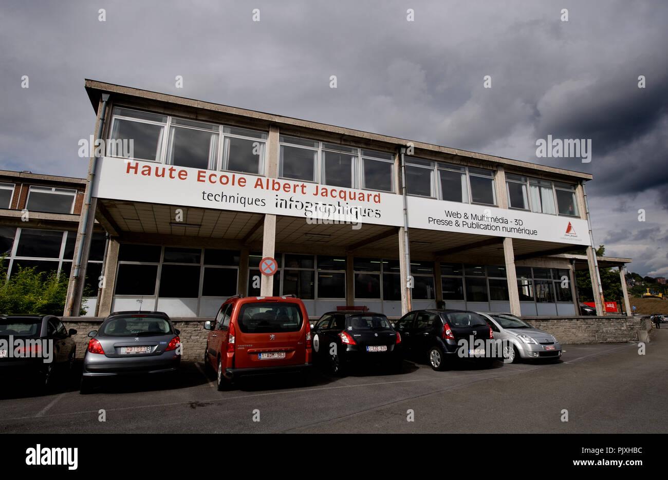 The Haute Ecole Albert Jacquard (HEAJ) high-school in Namur (Belgium, 12/09/2013) - Stock Image