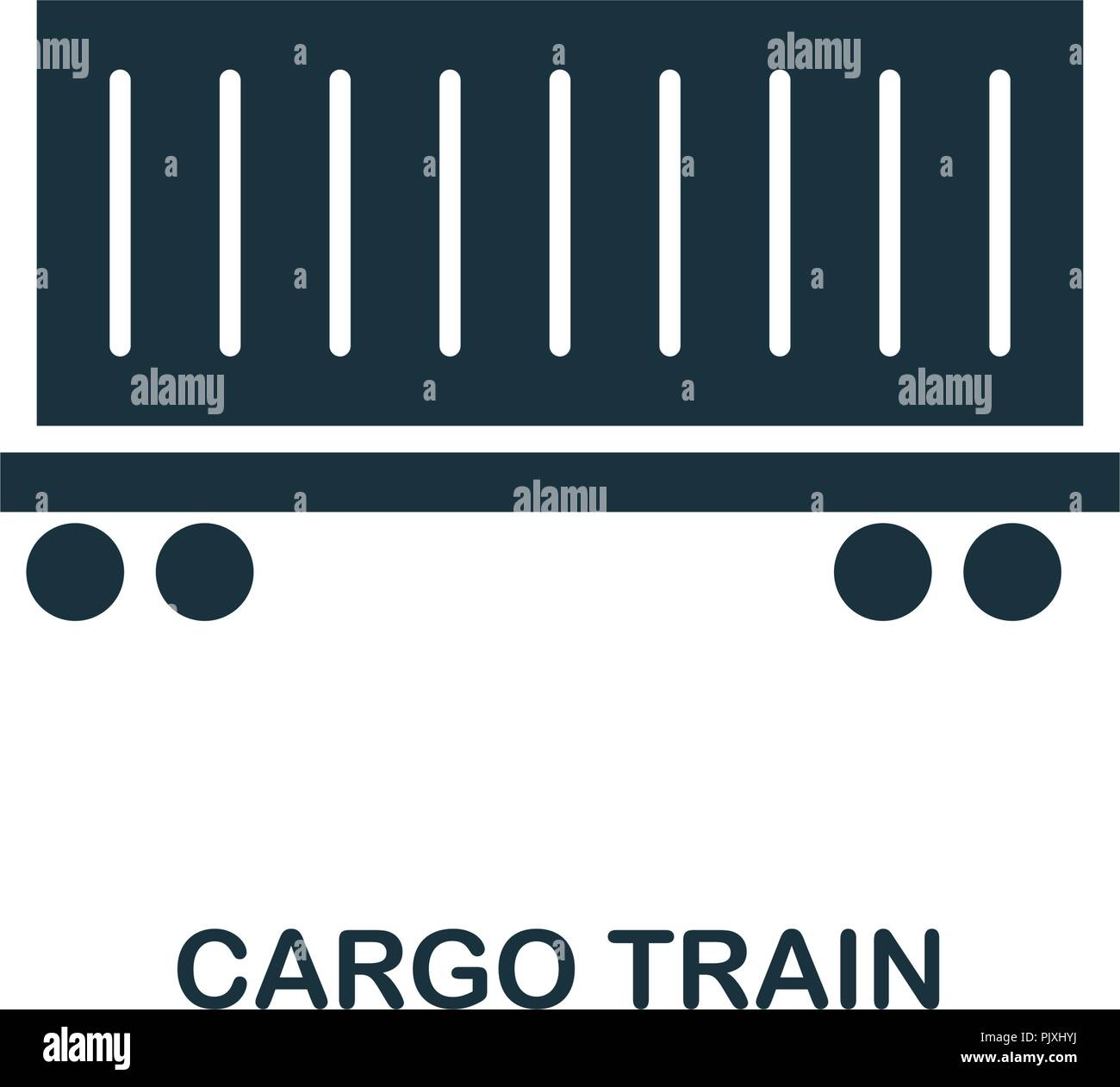 Cargo Train icon. Monochrome style design from logistics delivery collection. UI. Pixel perfect simple pictogram cargo train icon. Web design, apps, s - Stock Vector
