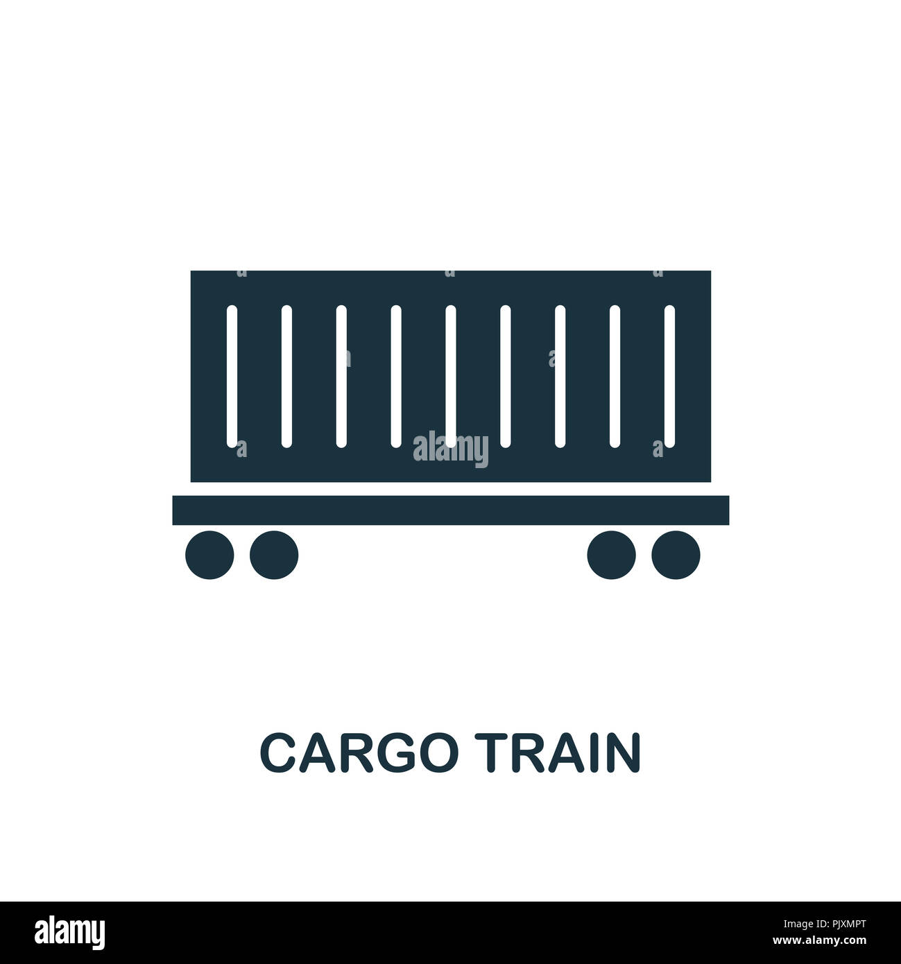 Cargo Train icon. Monochrome style design from logistics delivery collection. UI. Pixel perfect simple pictogram cargo train icon. Web design, apps, s - Stock Image