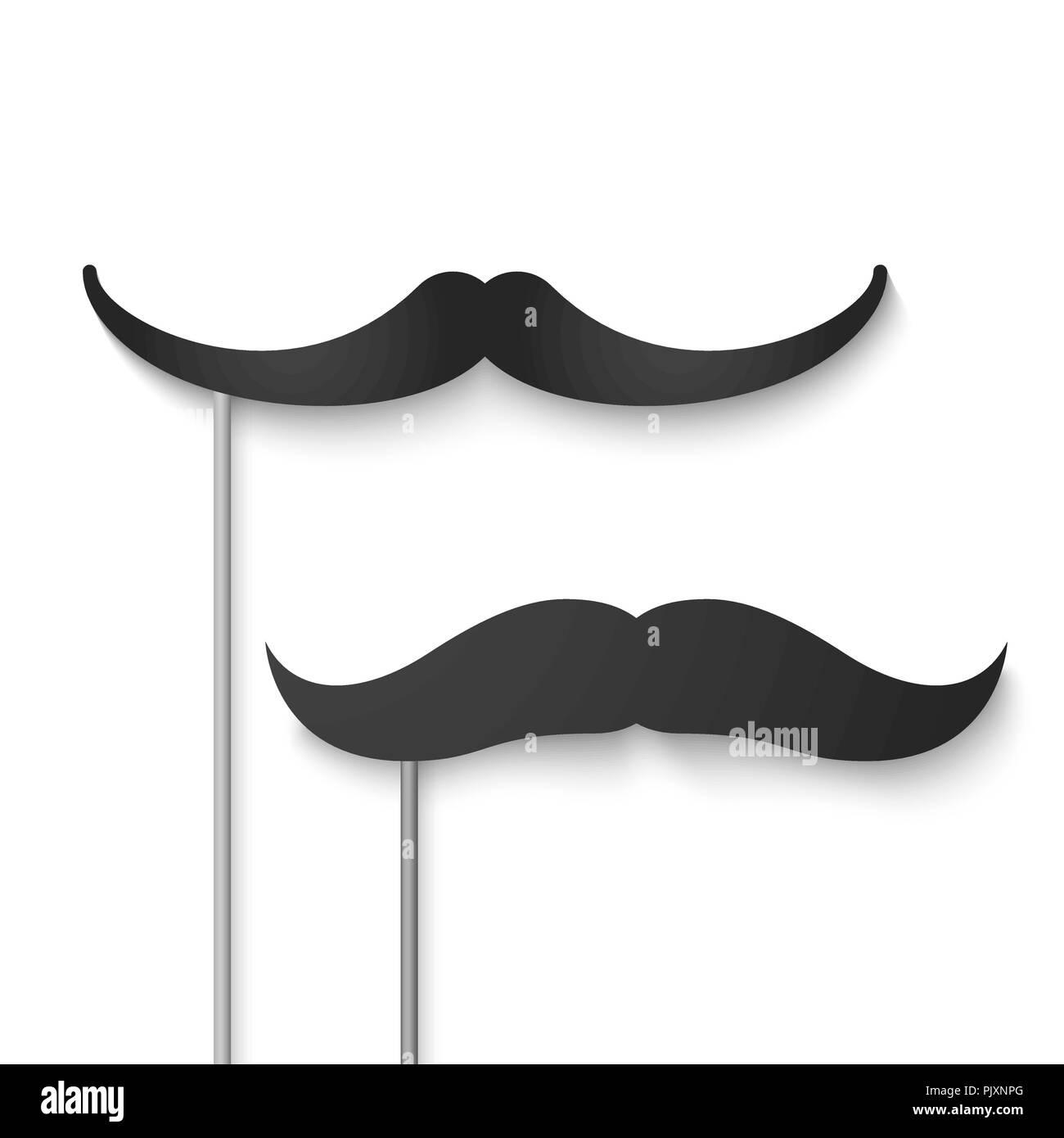 Mustache season. Fake mustache mask. Vector illustration - Stock Image