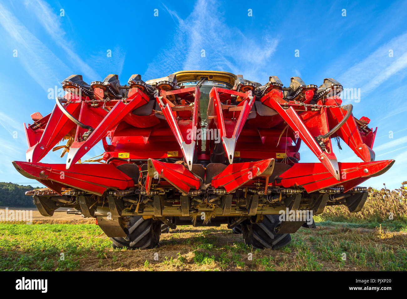 Combine harvester 'corn head cutter' for maize and