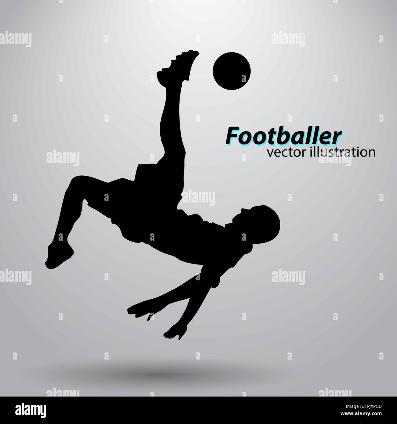 silhouette of a football player - Stock Vector