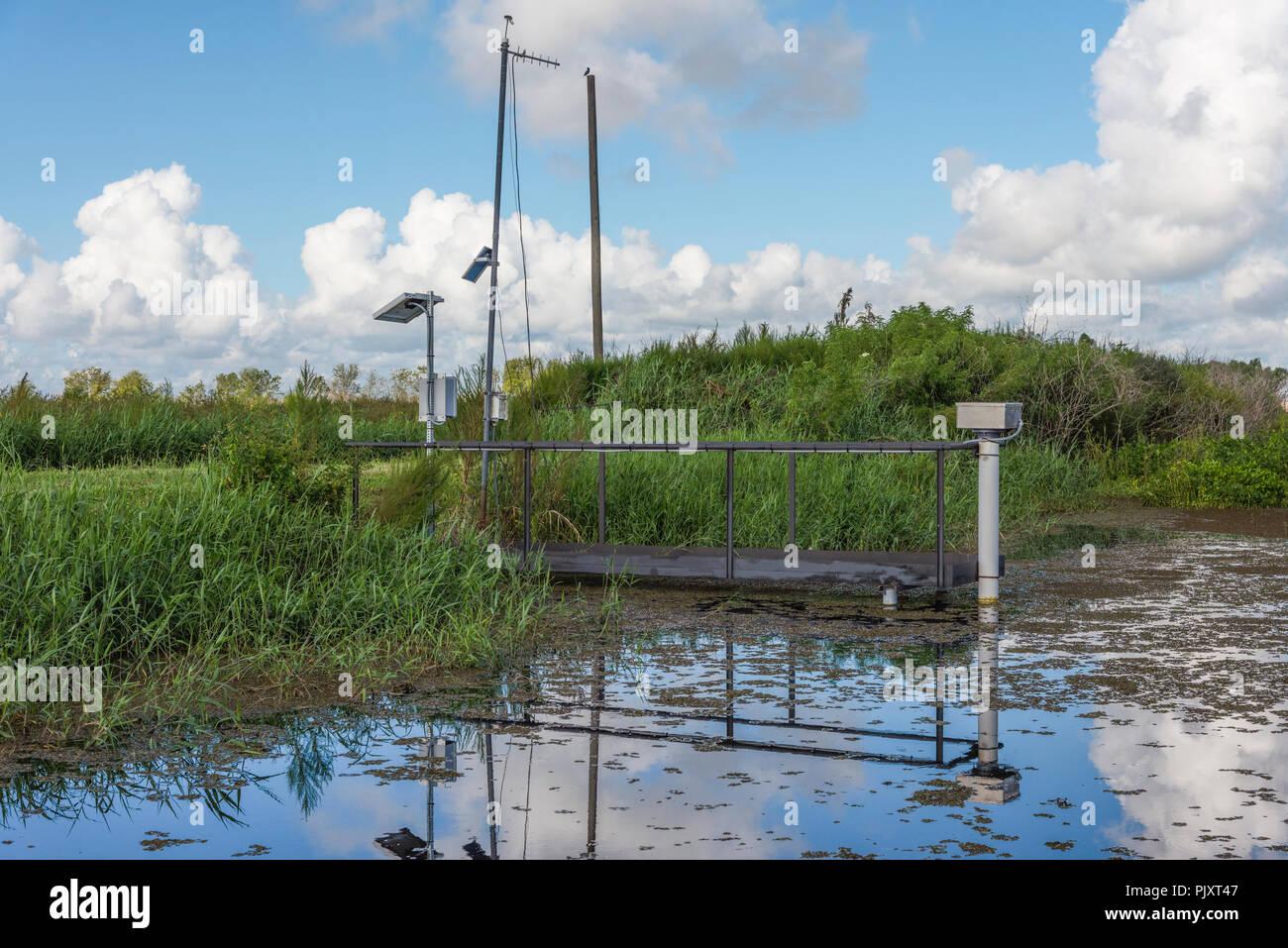 Water Level Monitoring Station - Stock Image