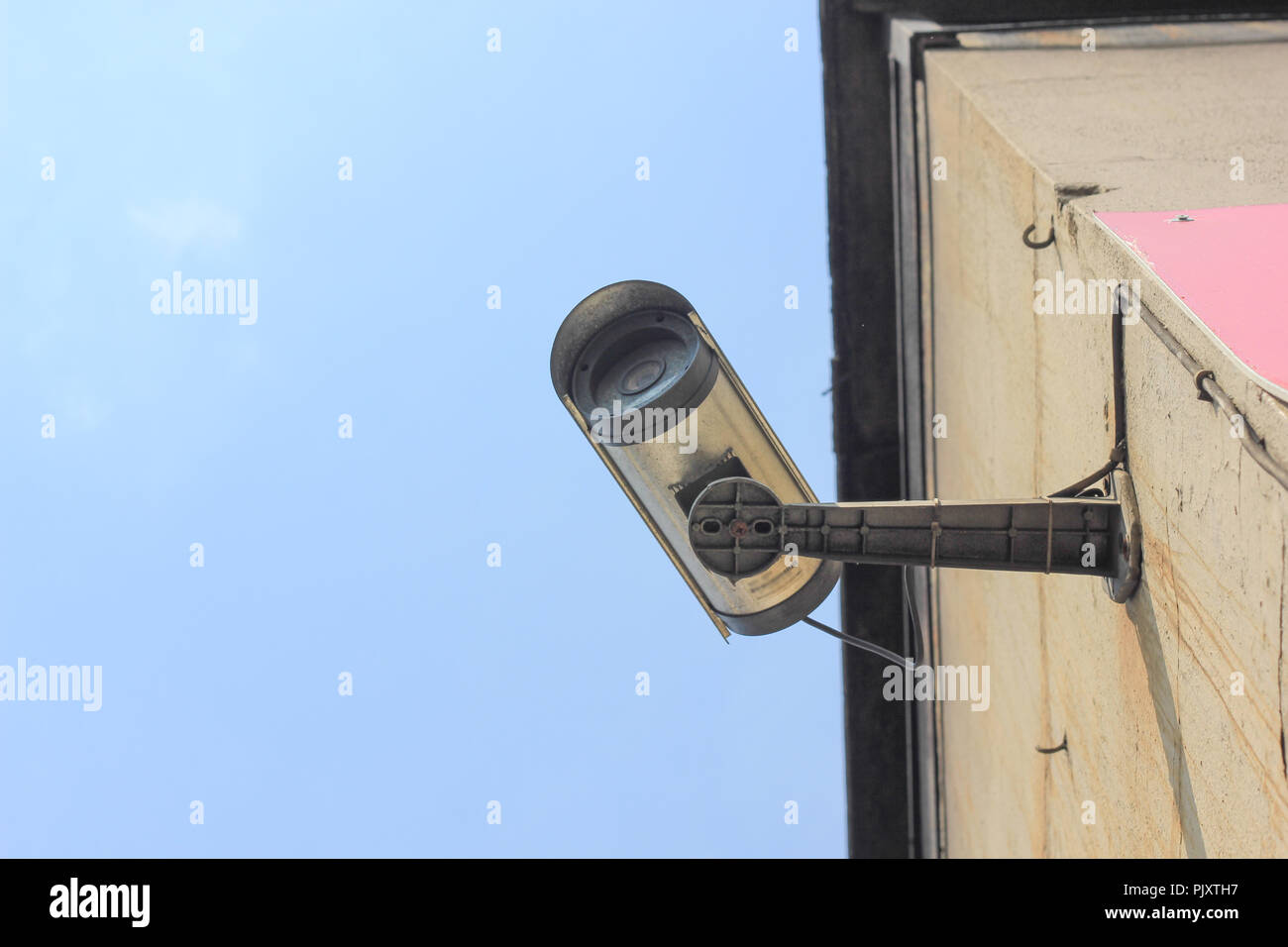 Video Surveillance Camera On The Wall - Stock Image
