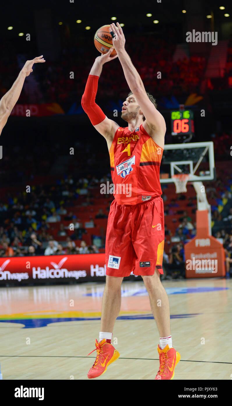 Pau Gasol. Spain Basketball National Team. World Cup 2014 - Stock Image fc268e4f0