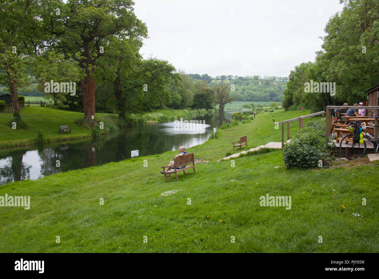 Meon Springs Trout fishery , West Meon, Hampshire, England, United Kingdom. - Stock Image