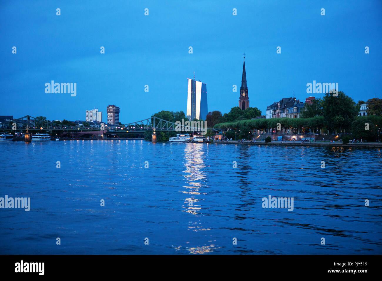 Europa Germany Hessen Rhein-Main Frankfurt am Main European Central Bank, Frankfurt - the new seat of the EZB - Stock Image