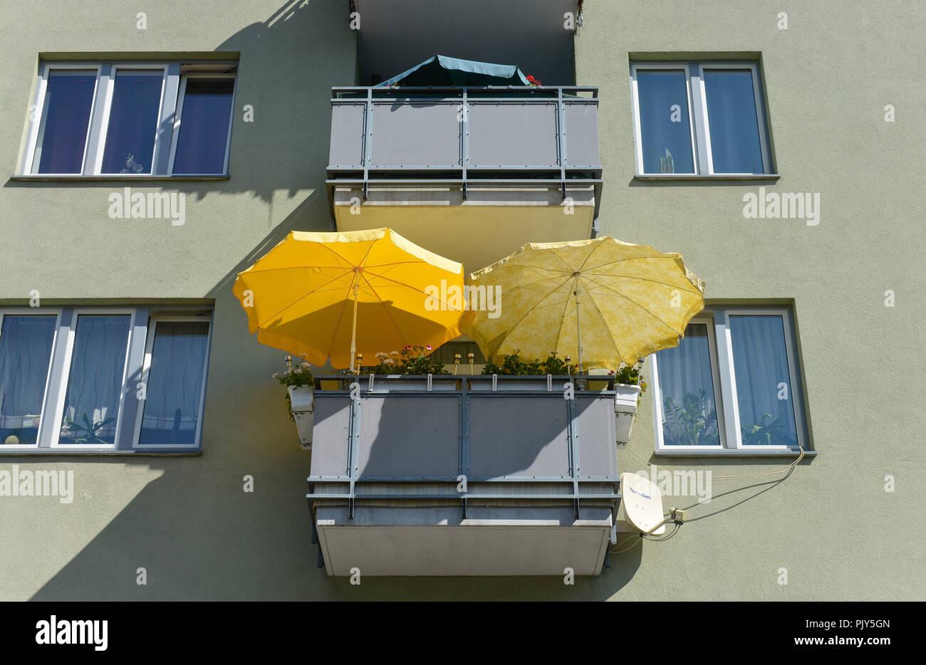 Balcony, sunshade, Gürtelstrasse, white lake, Pankow, Berlin