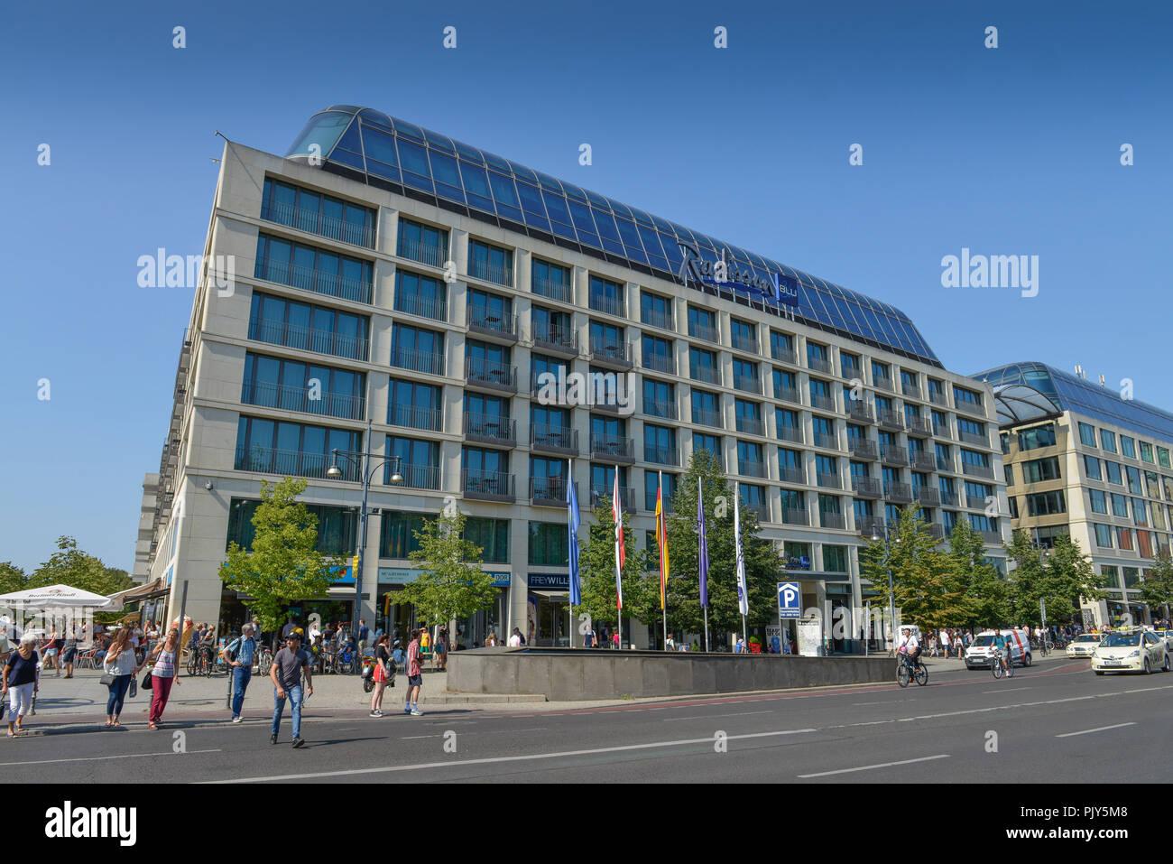 Hotel of Radisson Blu, Karl's Liebknecht street, middle, Berlin, Germany, Hotel Radisson Blu, Karl-Liebknecht-Strasse, Mitte, Deutschland - Stock Image