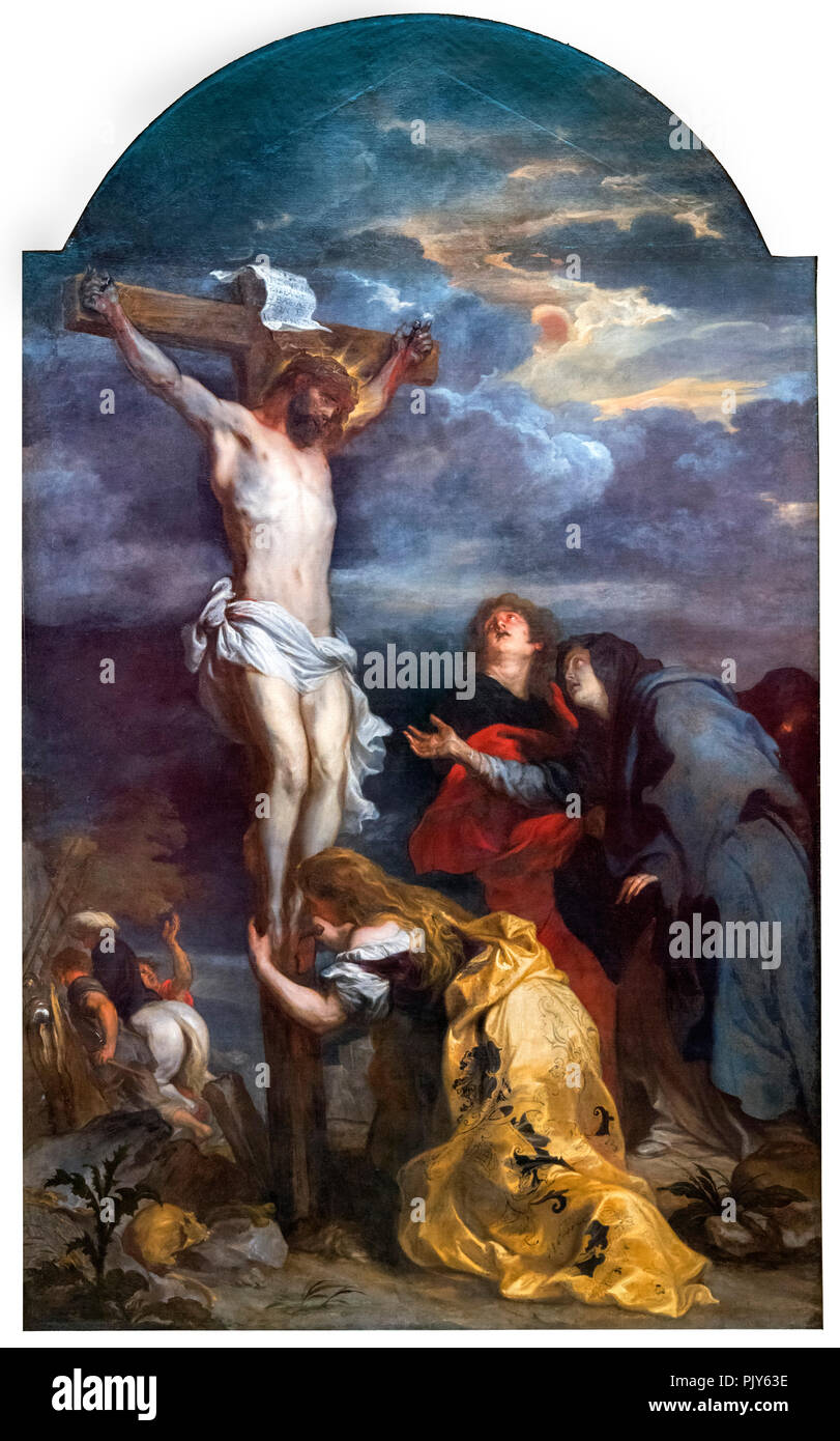 Christ on the Cross s by Sir Anthony van Dyck (1599-1641), oil on canvas, c.1630 - Stock Image
