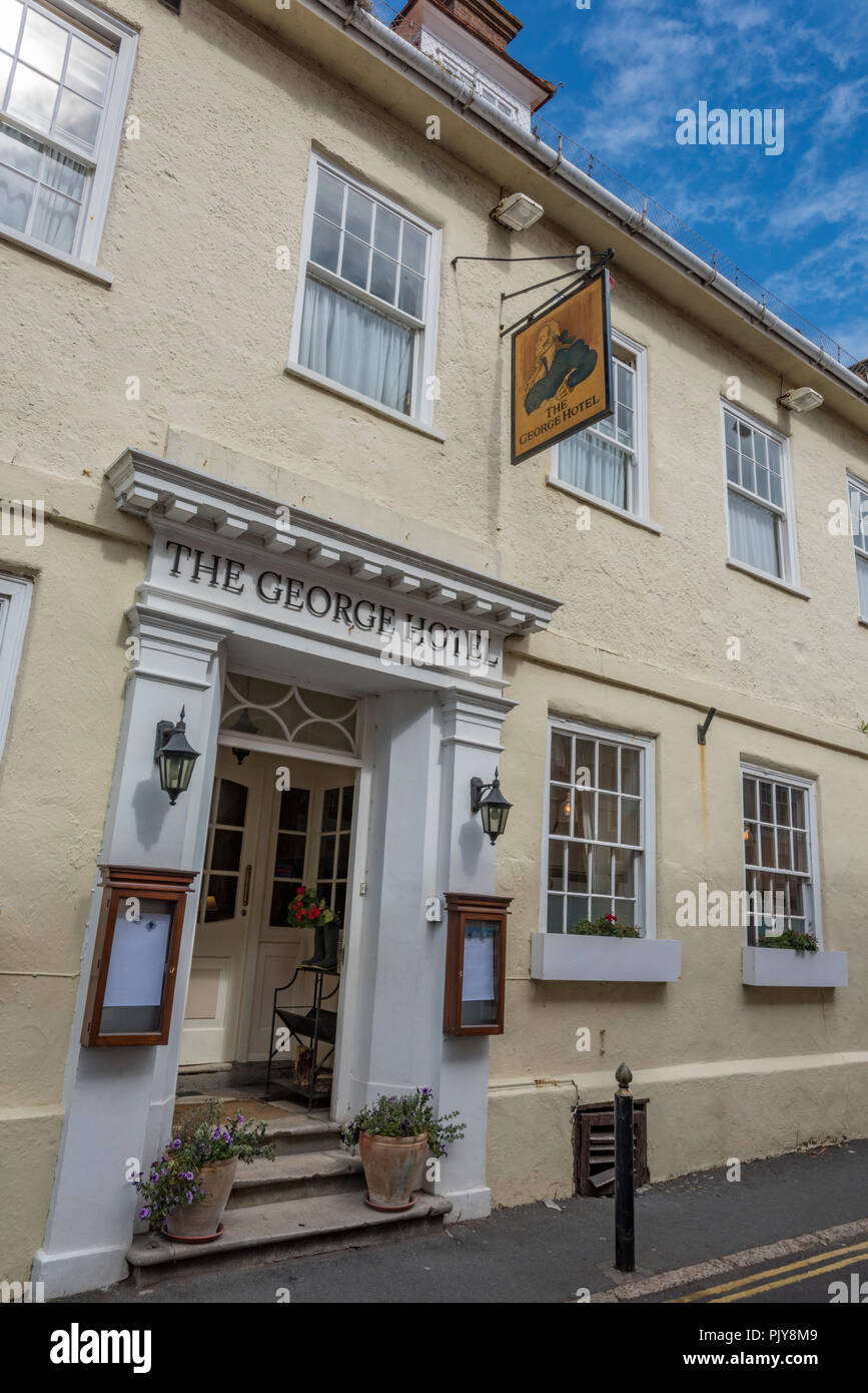 the george hotel, yarmouth, isle of wight. - Stock Image