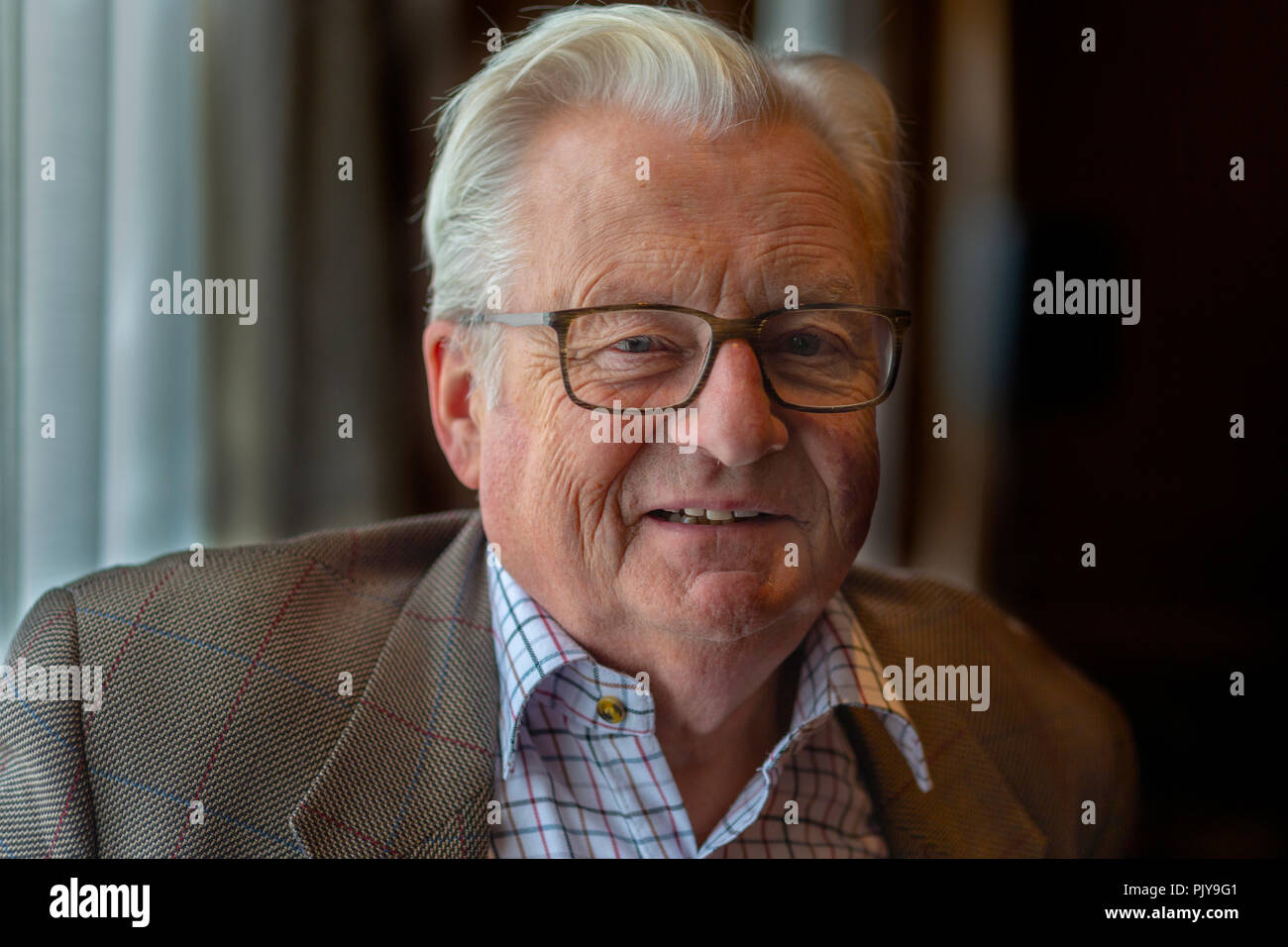 Cardiff, UK. September 2018. Lord Dafydd Elis-Thomas at Cardiff Book Festival. Stock Photo