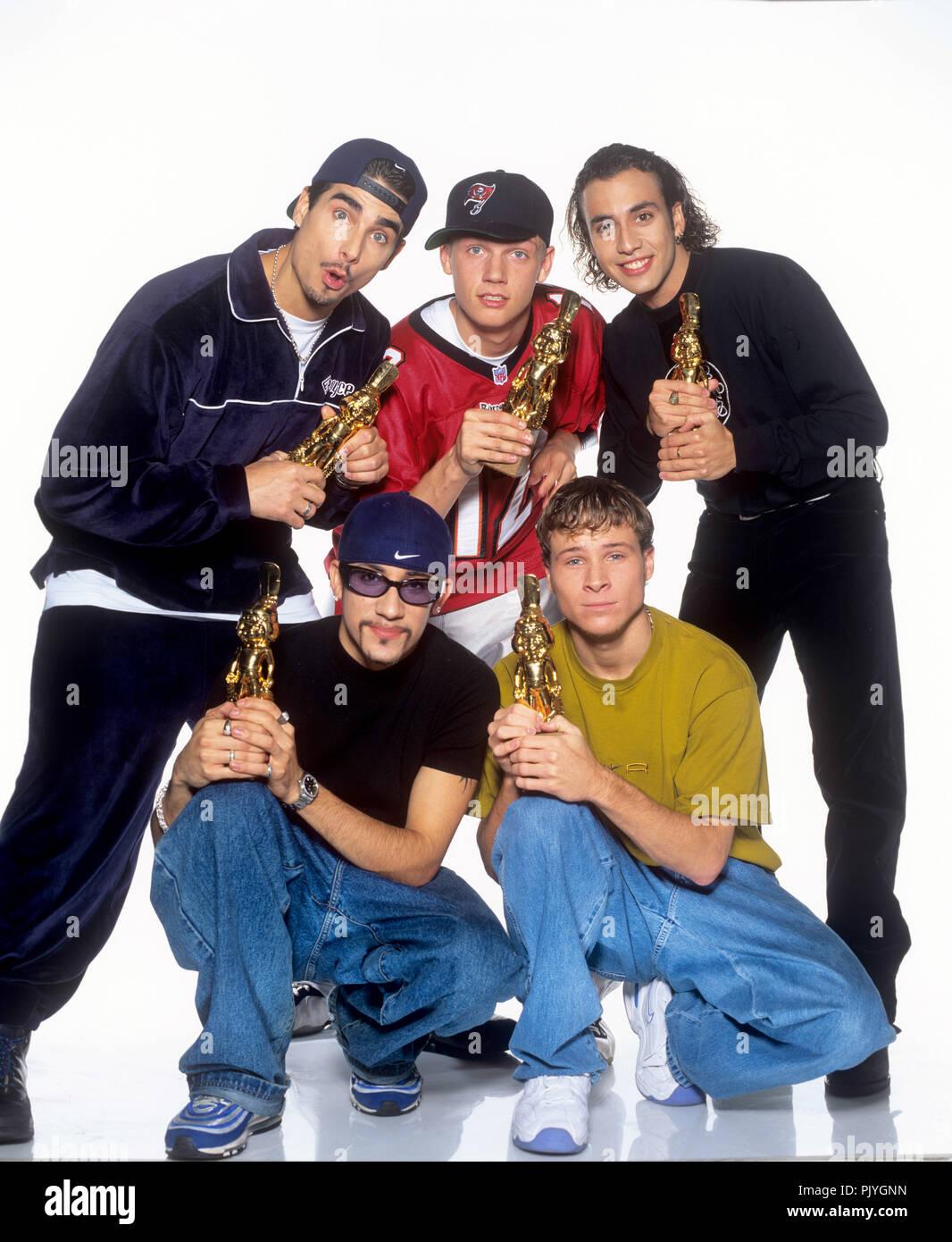 Backstreet Boys (l-r): Kevin Richardson, Alexander James McLean, Nick Carter, Brian Littrell, Howie Dorough on 15.07.1998 in Washington. | usage worldwide - Stock Image