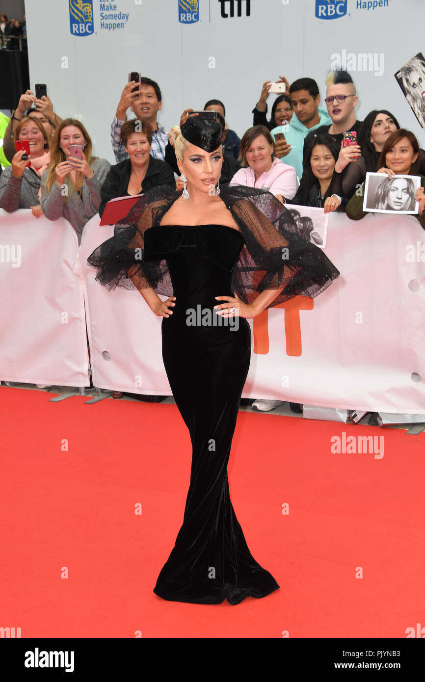 Toronto, Ontario, Canada. 9th Sep, 2018. LADY GAGA attends 'A Star Is Born' premiere during the 2018 Toronto International Film Festival at Roy Thompson Hallon September 09, 2018 in Toronto, Canada Credit: Igor Vidyashev/ZUMA Wire/Alamy Live News - Stock Image