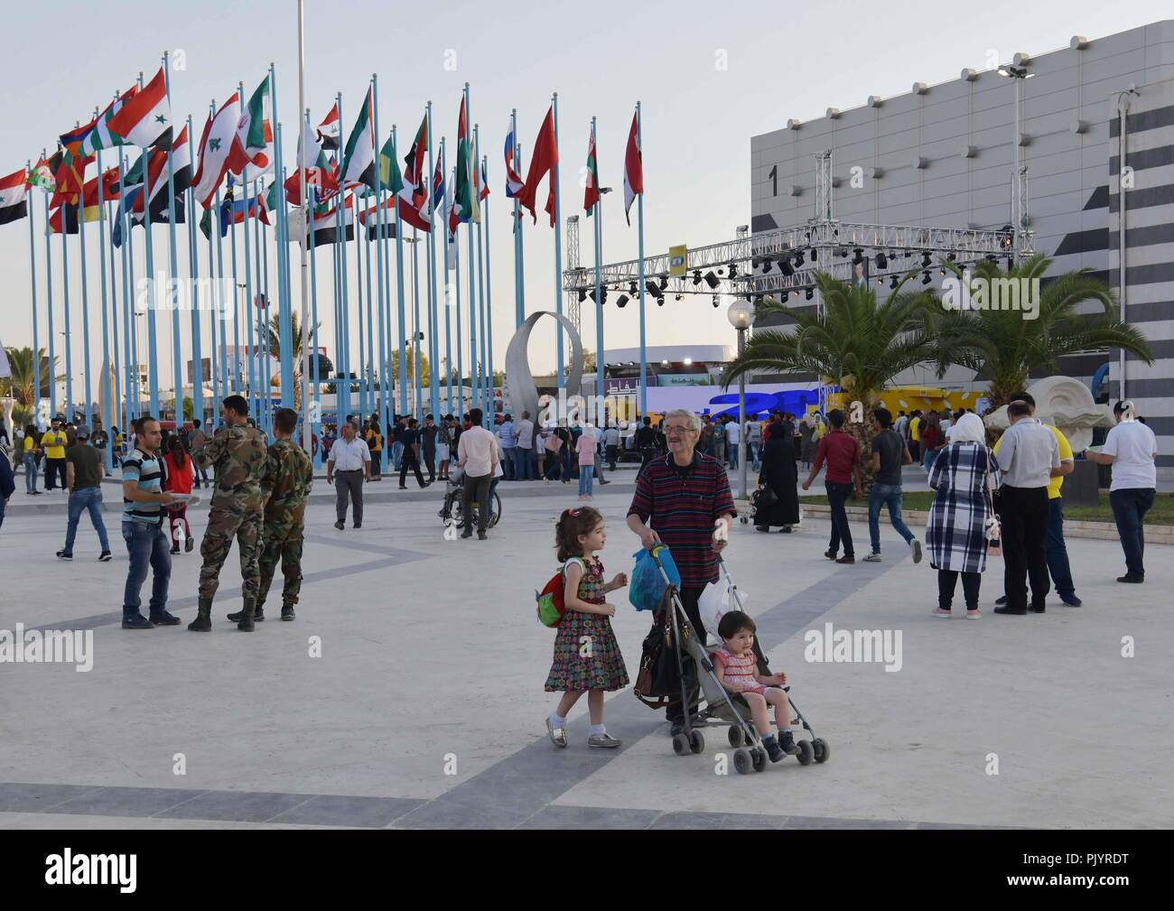 Damascus Syria 9th Sep 2018 Syrians Visit The Damascus