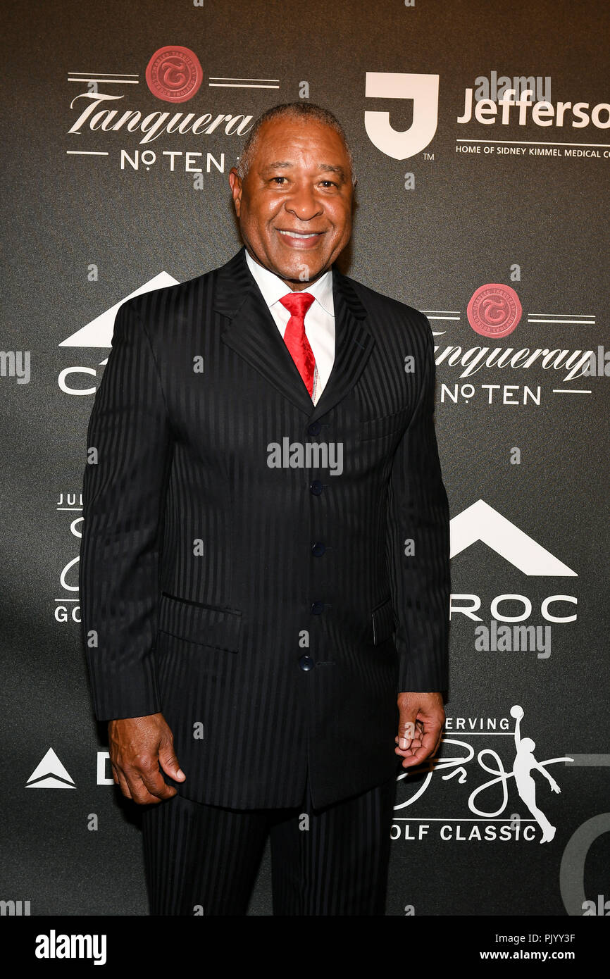 Philadelphia, Pennsylvania, USA. 9th Sep, 2018. Legendary hall of fame baseball plyer, OZZIE SMITH, at the Julius 'Dr.J' Erving Black Tie Ball in support of the Salvation Army of Greater Philadelphia. Credit: Ricky Fitchett/ZUMA Wire/Alamy Live News - Stock Image