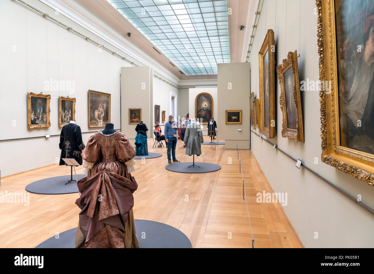 Gallery in the Palais des Beaux Arts, Lille, France Stock Photo