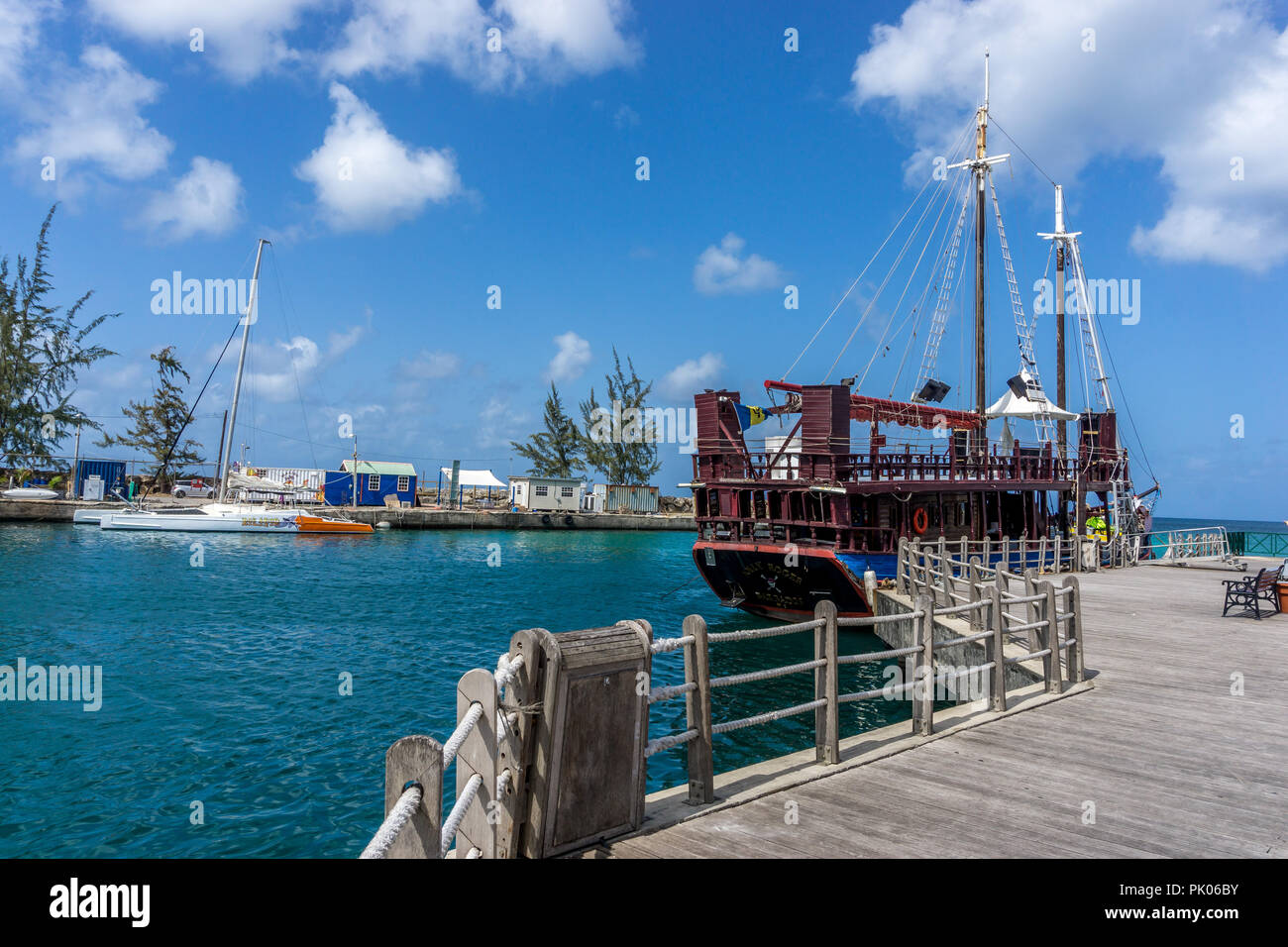 Jolly roger, Harbour and port, Old Town, Bridgtown, Barbados - Stock Image