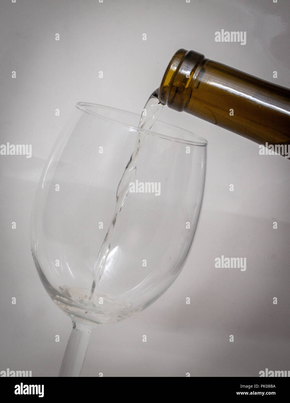 Pouring Water In A Wine Glass Stock Photo 218209470 Alamy