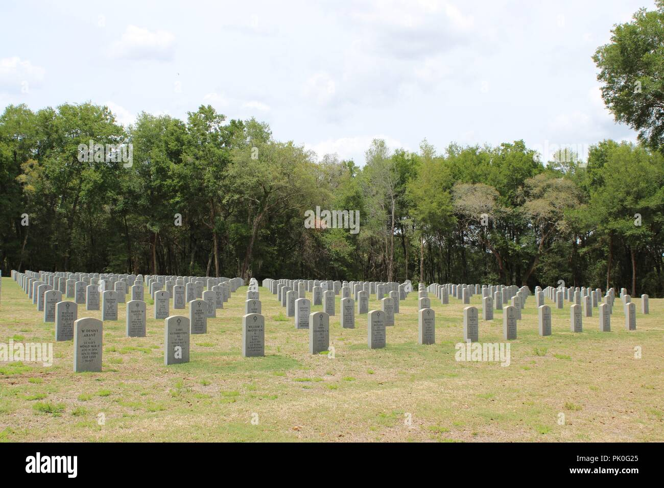 Florida National Cemetery located near the city of Bushnell in Sumter County, Florida, USA - Stock Image