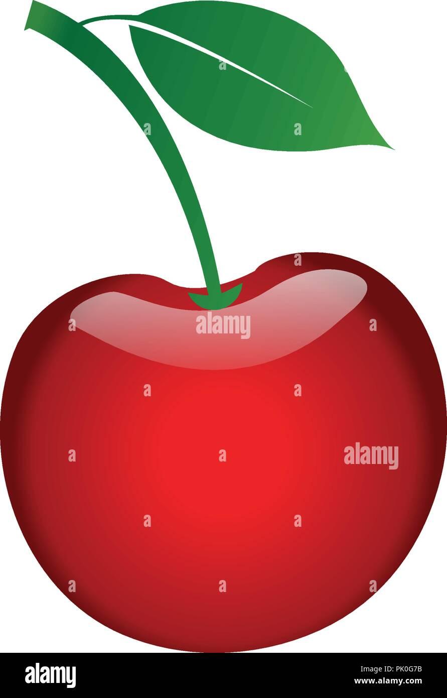 illustration of cherry fruit element design template stock vector