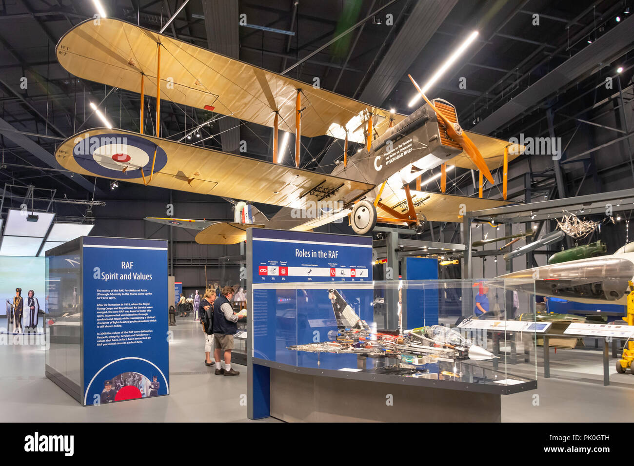 Dehavilland DH9A strategic bomber on display at Royal Air Force Museum, Colindale, London Borough of Barnet, Greater London, England, United Kingdom - Stock Image