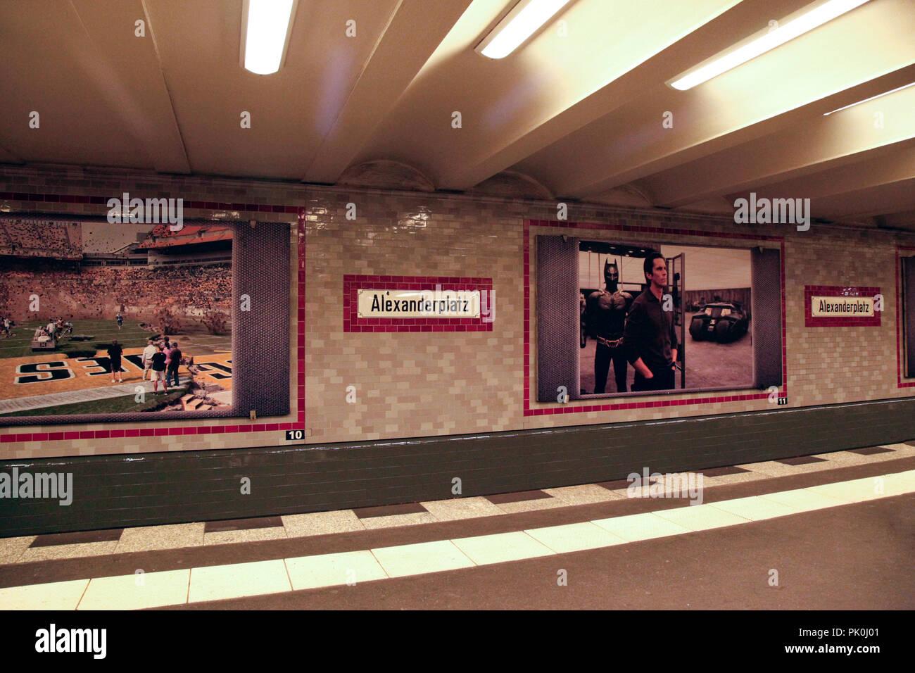 Alexanderplatz underground station in Berlin, Germany - Stock Image