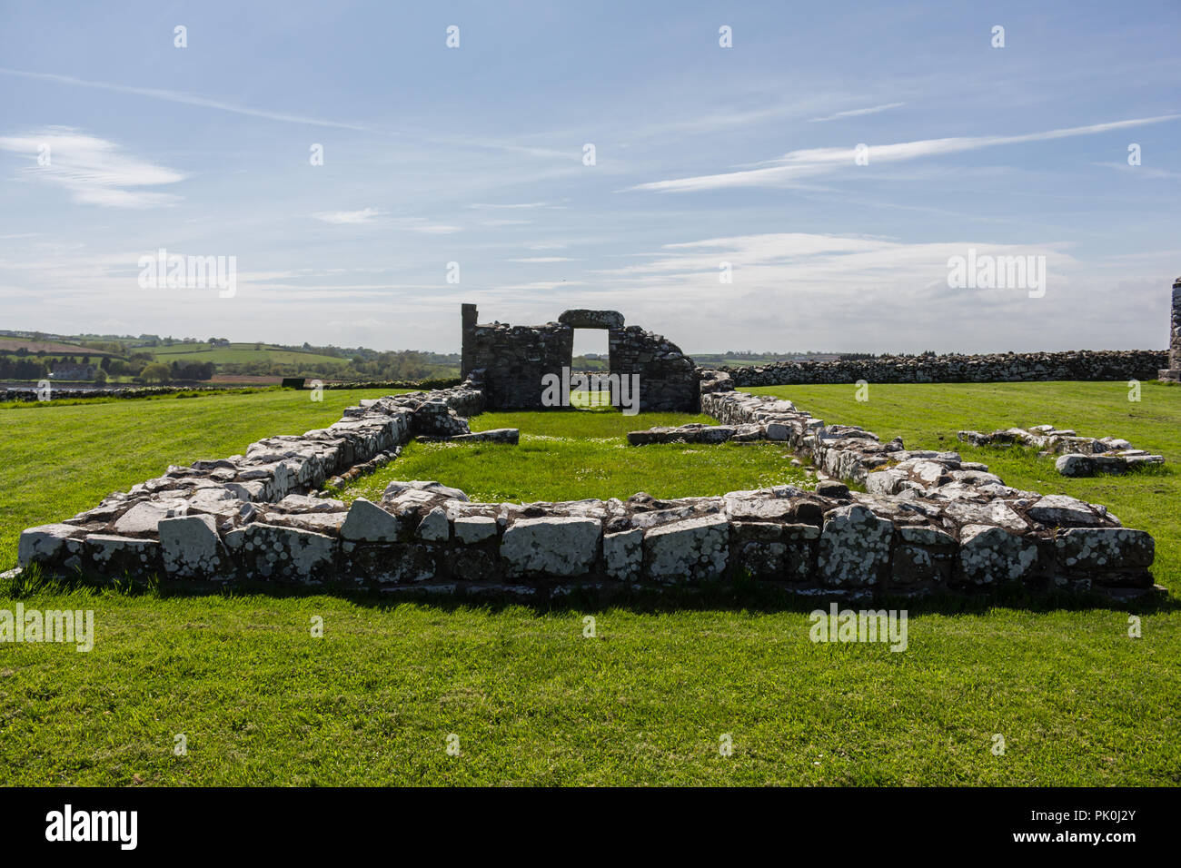 Ruins of Nendrum Monastry, Mahee Island, County Down, N.Ireland - Stock Image