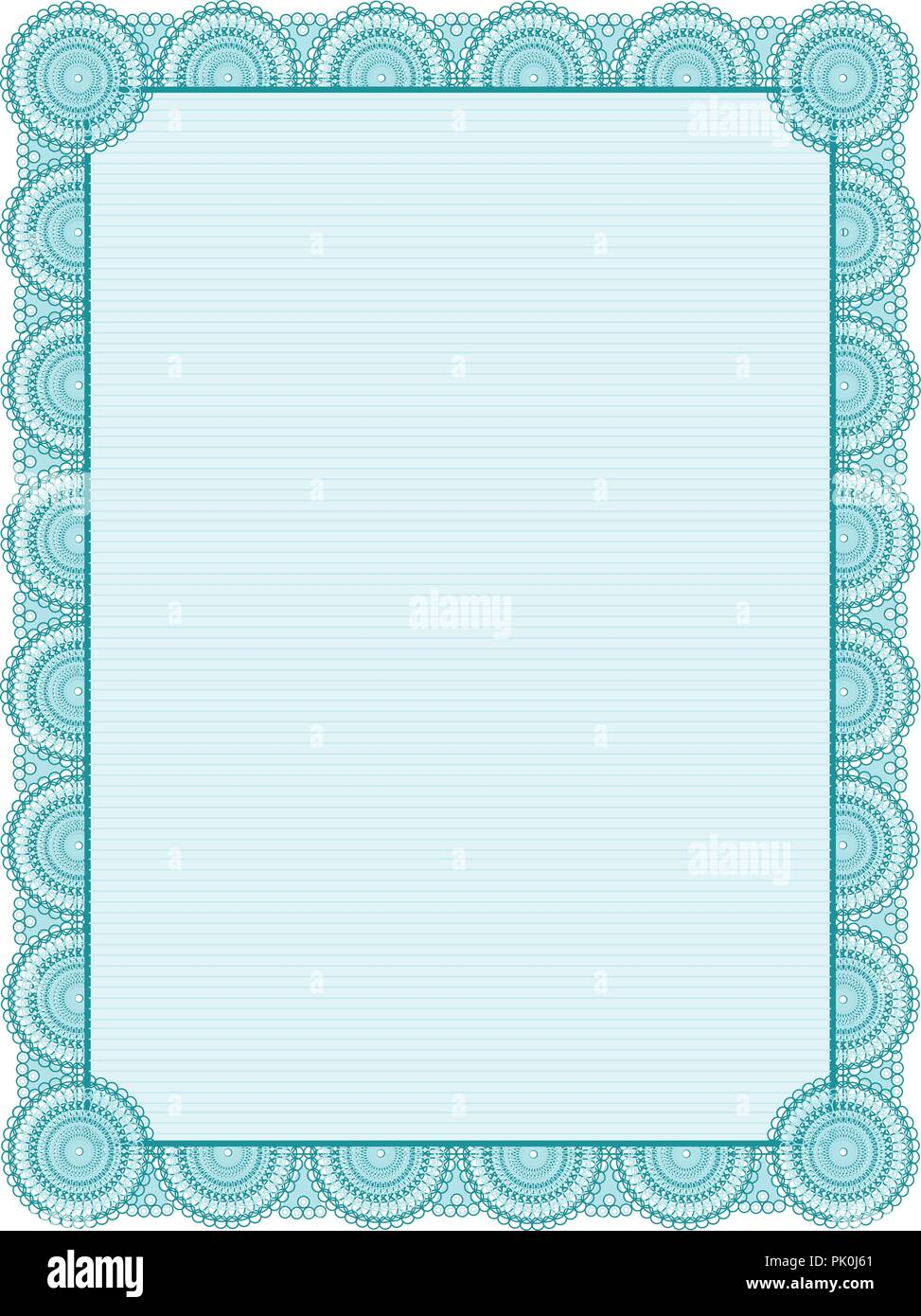 image about Printable Frame Template named Blank printable certification body / template Inventory Vector