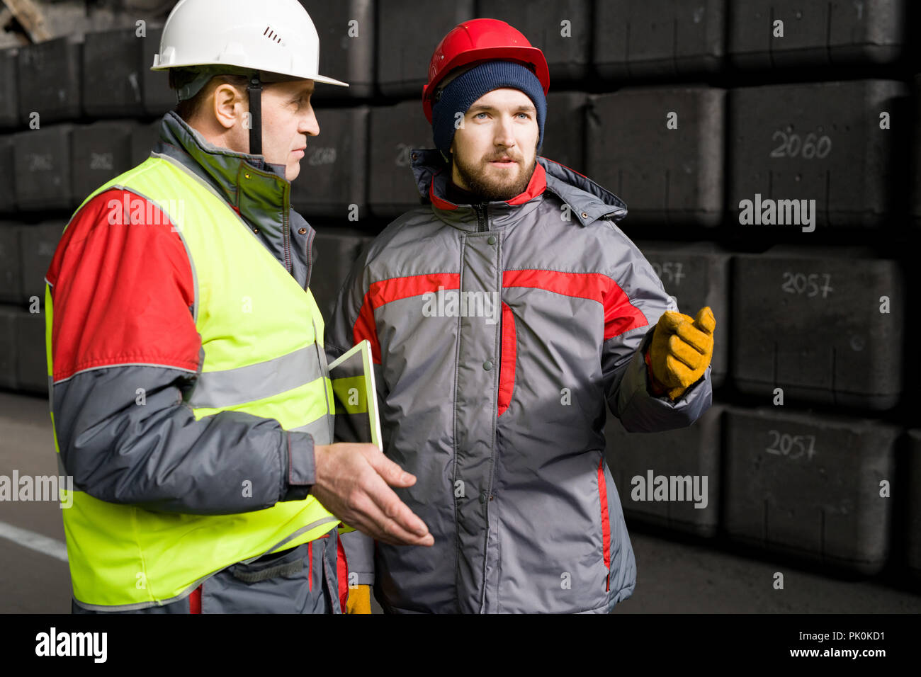 Inspection  at Heavy Industry Plant - Stock Image