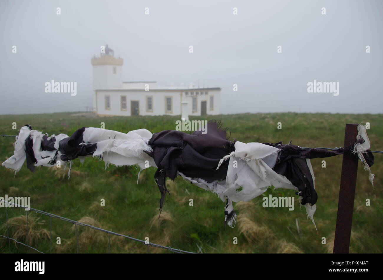Duncansby Head Lighthouse. John o' groats (Duncansby head) to lands end. Cornwall. End to end trail. Caithness. Highlands. Scotland. UK - Stock Image