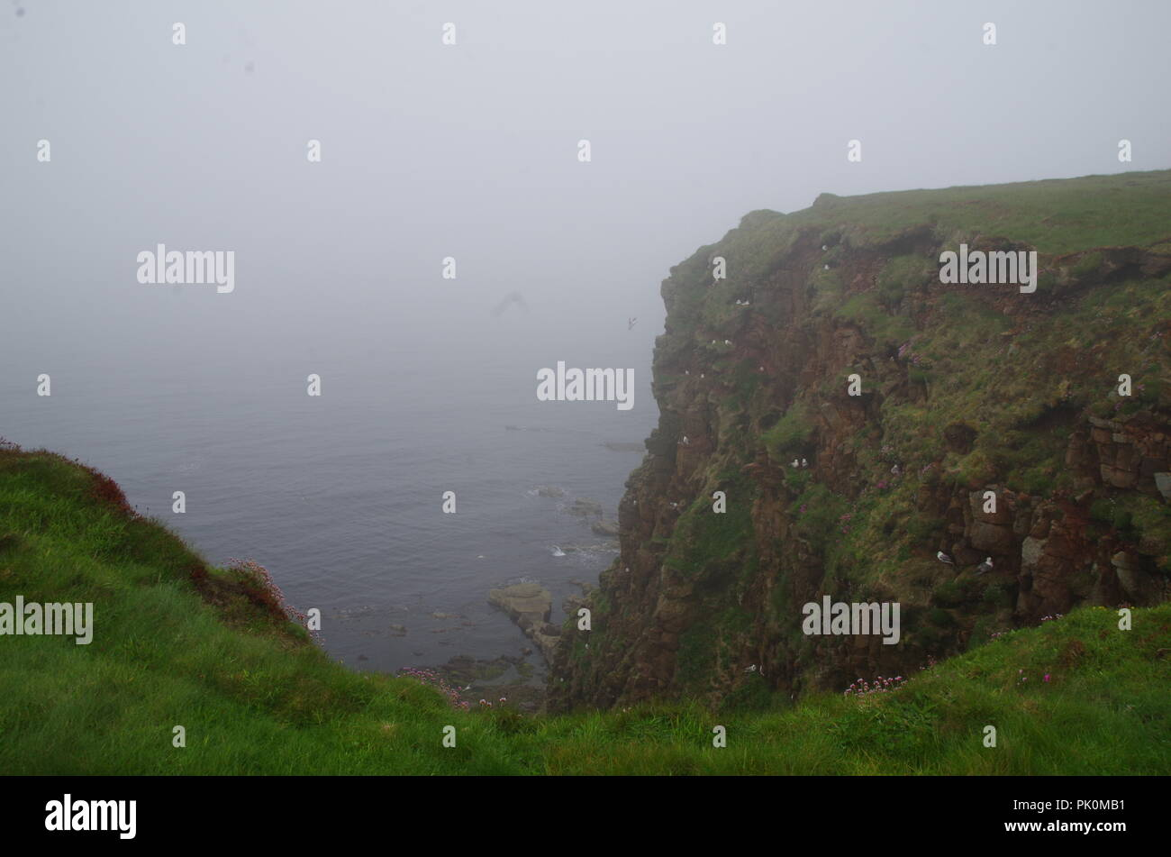 Duncansby Head. John o' groats (Duncansby head) to lands end. Cornwall. End to end trail. Caithness. Highlands. Scotland. UK - Stock Image