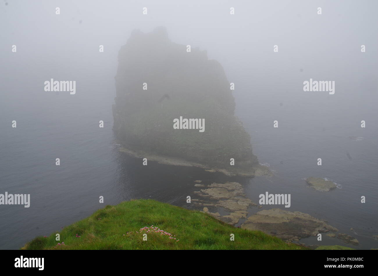 Duncansby Stacks. Duncansby Head. John o' groats (Duncansby head) to lands end. Cornwall. End to end trail. Caithness. Highlands. Scotland. UK - Stock Image