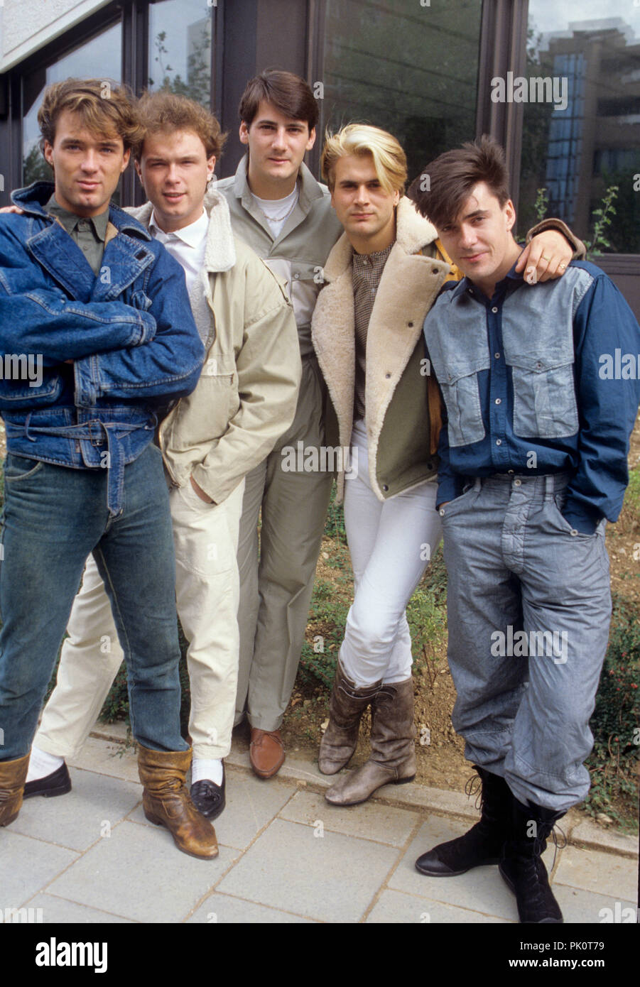 Spandau Ballet (with singer Tony Hadley) on 02.10.1983 in München / Munich. | usage worldwide Stock Photo